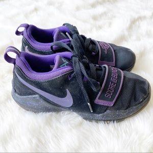 Nike PG 1 black purple athletic sneakers